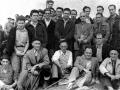Indalecio Ojanguren con un grupo de montañeros en su homenaje