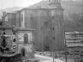 """""""Eibar. Una vista en reconstruccion con la Iglesia Parroquial"""""""