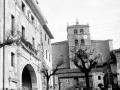 Vista de Elgeta con la iglesia antes de restaurar
