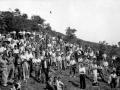 Grupo de montañeros en Arno el día de la inauguración
