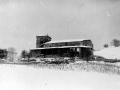 Iglesia de San Bartolomé de Itsaso con la nevada