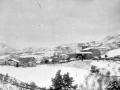 Vista general de Itsaso con la nevada
