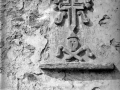 """Lazcano. Antigua lapida funeraria en una casa de Lazcano"""