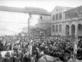 La plaza Aita Agirre de Elgoibar durante la feria de Gabon-Zar