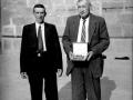 El alcalde de Ermua y Cantabria en el homenaje de éste