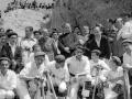 Autoridades, dantzaris y montañeros en Kurtzebarri