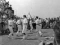 Ezpatadantzaris bailando en Kurtzebarri