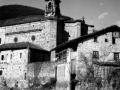 """Ataun (Guipuzcua). Paisaje con la Iglesia Parroquial de S. Martin"""