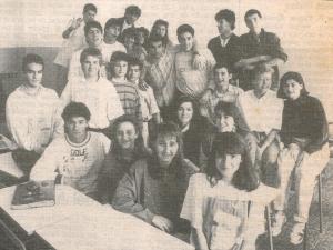 Alumnos ganadores premio Europa y los jóvenes (Diario Vasco)