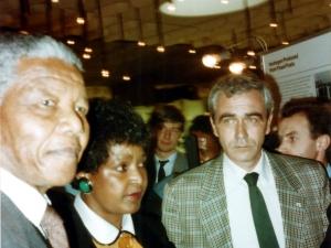 Nelson Mandela y Winnie Mandela 1990