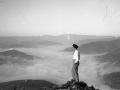 Yo en Uzturre y mar niebla