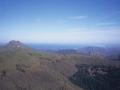 Lapurdiko kostaldearen ikuspegi panoramikoa Bianditz mendi gailurretik ikusita