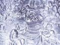 Eibarko San Andres parrokiko erretaulako ´Kristoren azken Afaria´-ren irudikapenaren erreprodukzioa