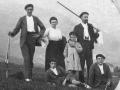 Juanito Elosegi Sarasola, Jose Leon, Julian eta Jesus Elosegi Irazusta anaiak, Maria Irazusta eta Polikarpo Elosegi Ansola mendiak