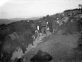 Lagun taldea Aralarko San Migel santutegirako bidean