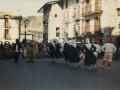 Luzaideko Esku dantza herriko plazan ihauteritan