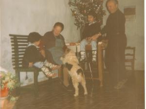 Pilar e Ignacio de Zumardi con los niños