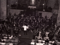 Orquesta sinfónica de San Sebastián en el interior de la iglesia parroquial de San Miguel