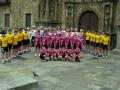 Actos de presentación de varios equipos de ciclismo, delante de la Universidad de Oñati