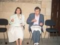 Asistentes a una recepción del Instituto Internacional de Sociología Jurídica, en la Universidad de Oñati