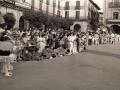 Niños en la plaza de los Fueros durante la celebración de la tamborrada infantil