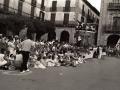 Celebración de la tamborrada infantil en la plaza de los Fueros
