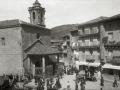 VISTA DE LA BASILICA DEL SANTO CRISTO Y AYUNTAMIENTO DE LEZO. (Foto 2/2)
