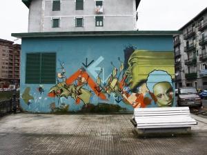 Graffitia Arana kalean.