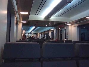 Trenaren barruan.