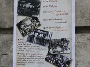 Garai Bateko Alegia festaren kartela.