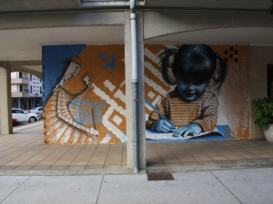 Graffitia Itsasondon.